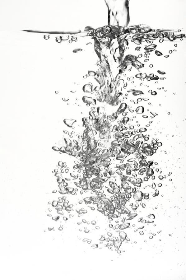 Água e bolhas foto de stock royalty free