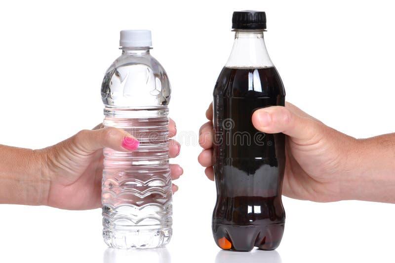 Água e soda foto de stock