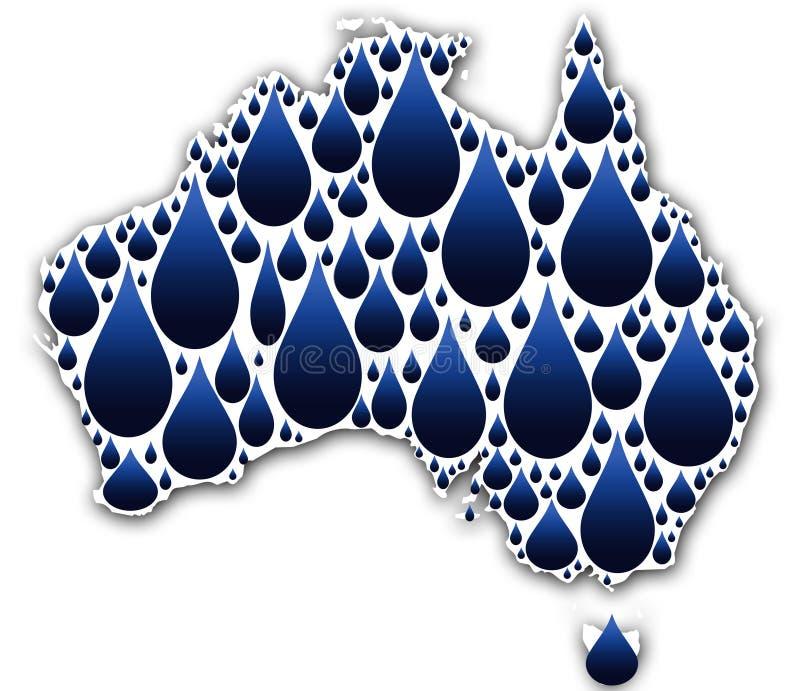 Água em Austrália ilustração do vetor