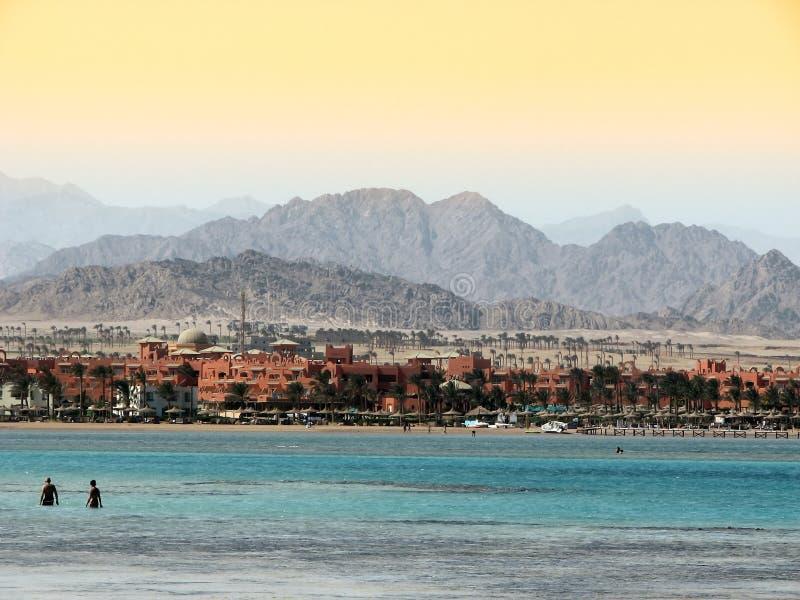 Água em Sharm imagens de stock