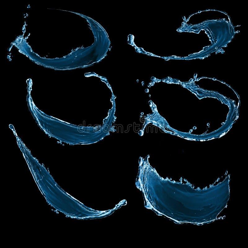 A água espirra ilustração do vetor