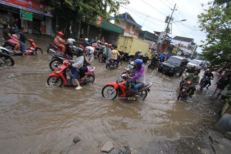 Água estagnante devido à drenagem pobre imagens de stock royalty free