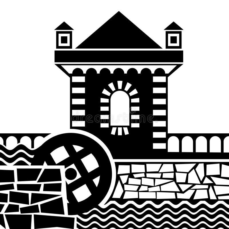 A água ferventa com especiarias ilustração royalty free