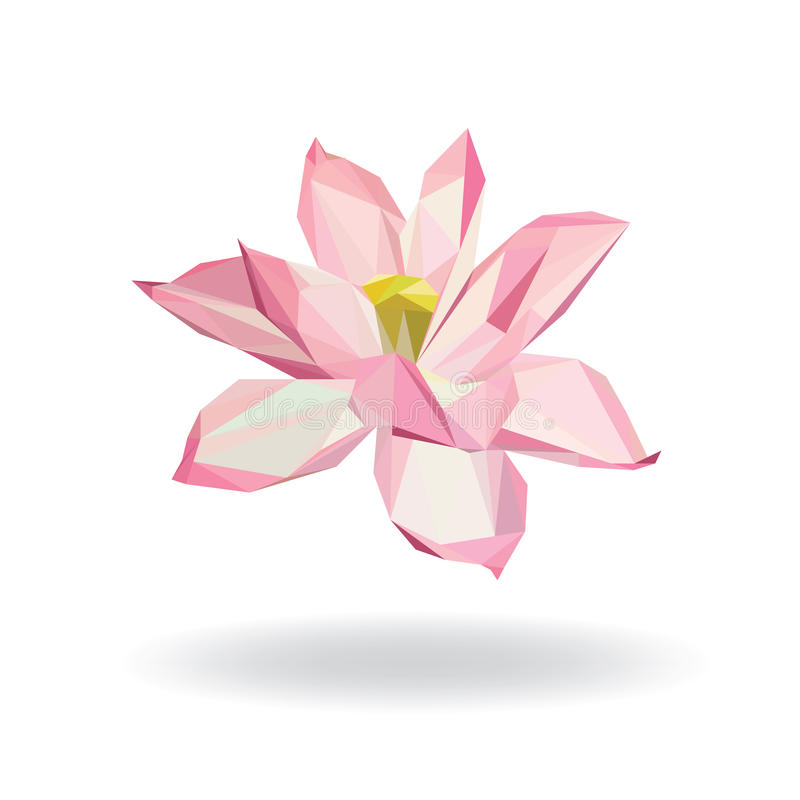 Água floral geométrica Lily Lotus Elements para o projeto ilustração do vetor