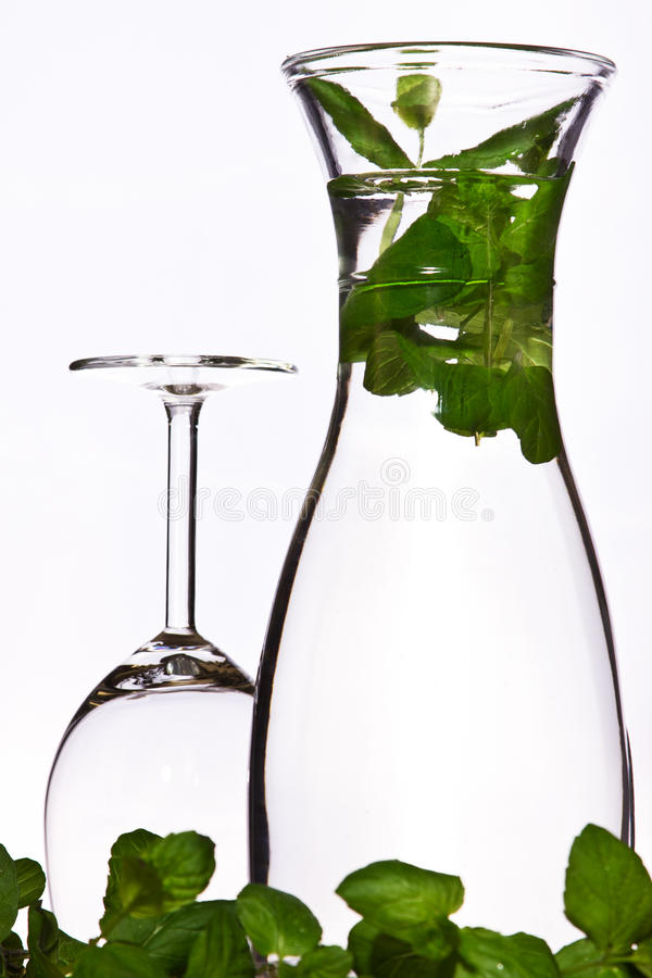 Água fresca com hortelã imagens de stock royalty free