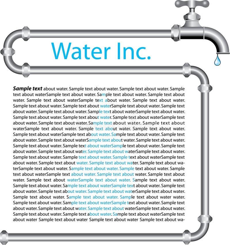 Água inc ilustração stock