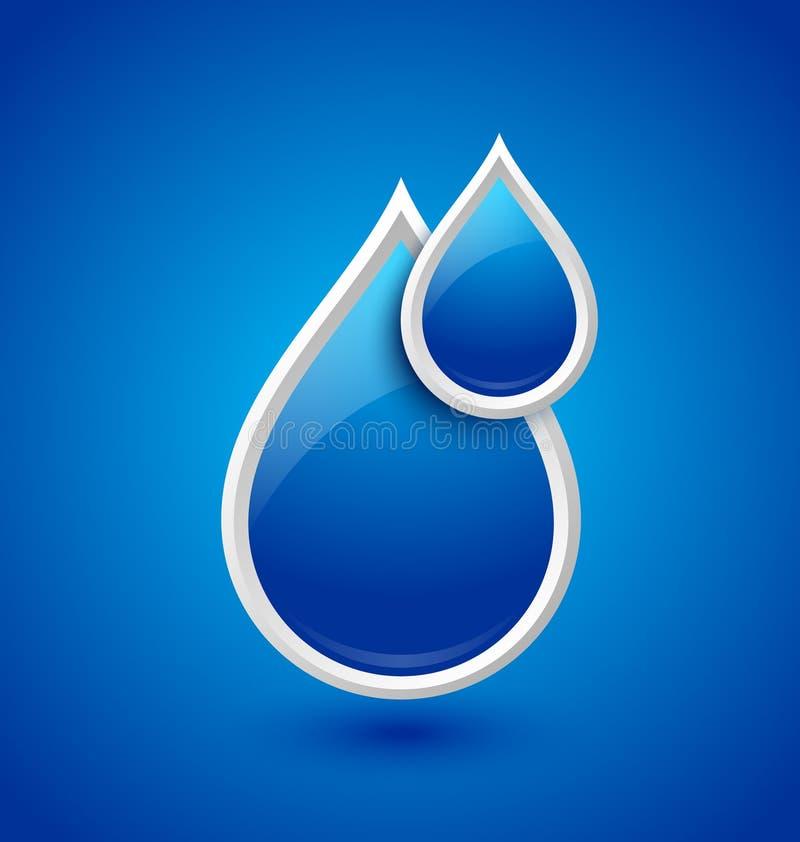 A água deixa cair o ícone ilustração stock