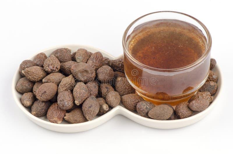 Água Malva Nut, (loksumrong. O nome é Tailândia) (scaphigerum de Scaphium (G.Don) Guib. & Planoh.) Para a perda de peso, maneiras  fotografia de stock royalty free