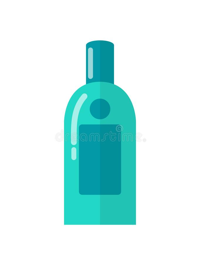 Água Micellar para Skincare na garrafa plástica azul ilustração do vetor