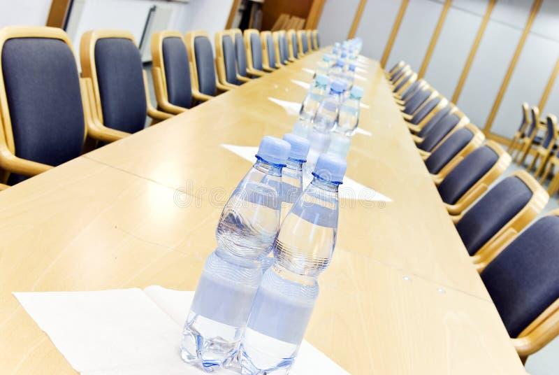 Água na conferência fotografia de stock royalty free