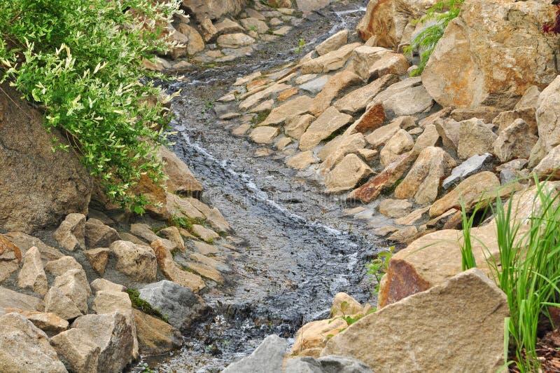 Água no jardim imagens de stock