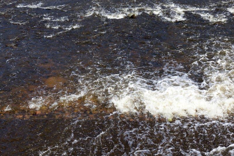 Água no rio fotografia de stock