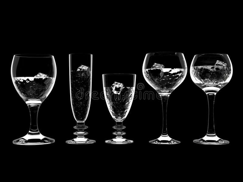 Água no vidro ilustração do vetor