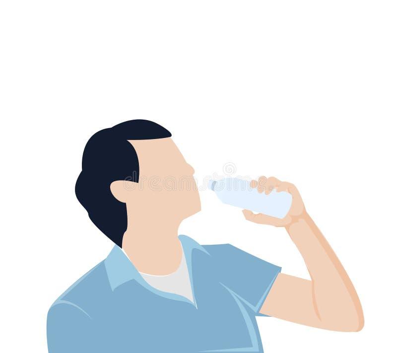 Água potável da garrafa do homem fotografia de stock royalty free
