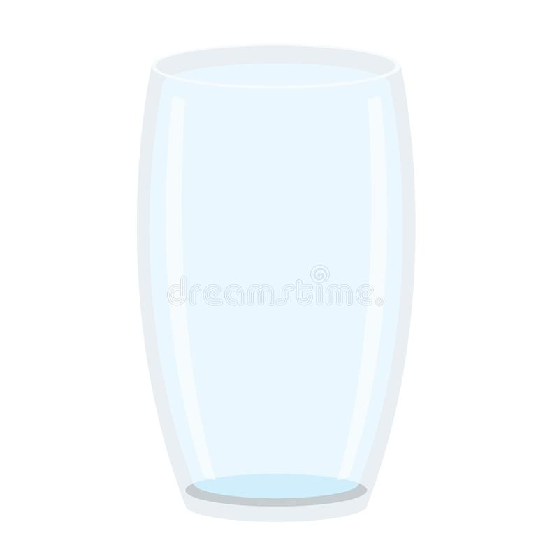 Água potável de vidro no vetor branco da ilustração do fundo ilustração royalty free
