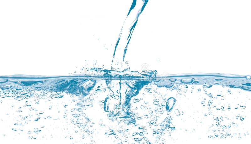 Água que derrama com bolhas imagens de stock royalty free