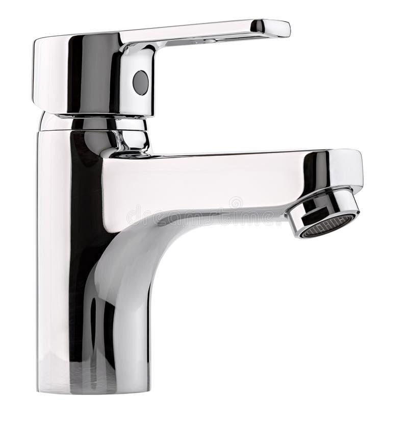 Água quente fria do misturador Banheiro moderno do torneira Torneira da cozinha Mim fotografia de stock
