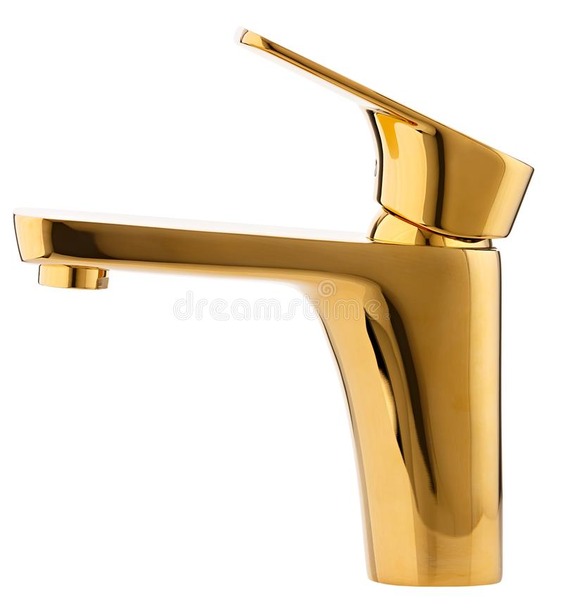 Água quente fria do misturador Banheiro moderno do torneira Torneira da cozinha Mim fotografia de stock royalty free