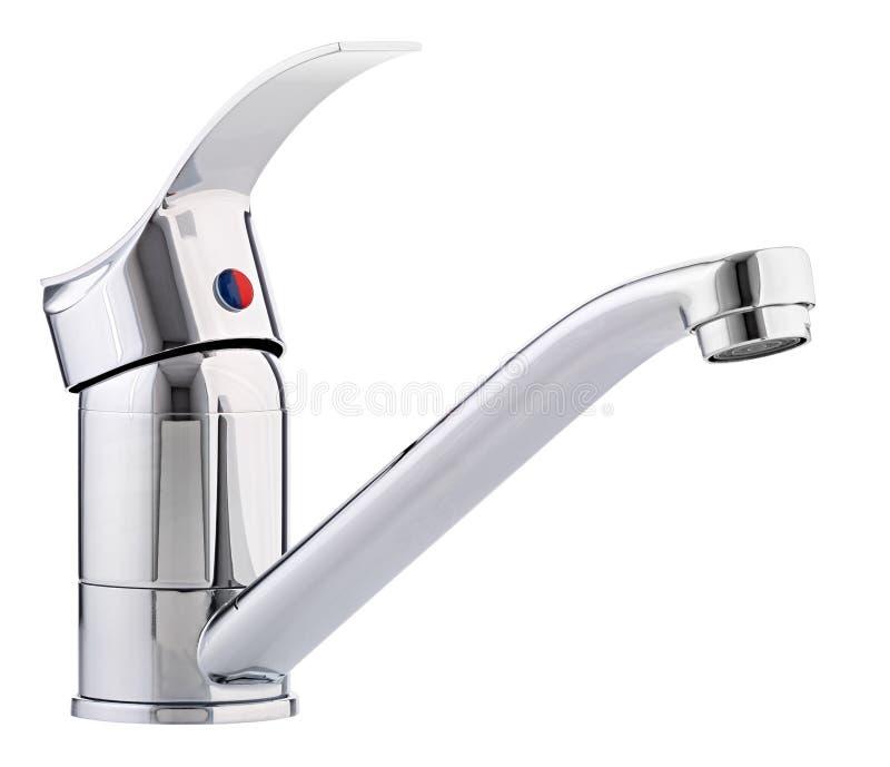 Água quente fria do misturador Banheiro moderno do torneira Torneira da cozinha Mim imagens de stock royalty free