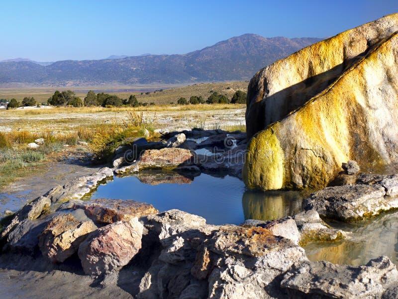 Água quente, molas térmicas, banhando a paisagem fotografia de stock royalty free