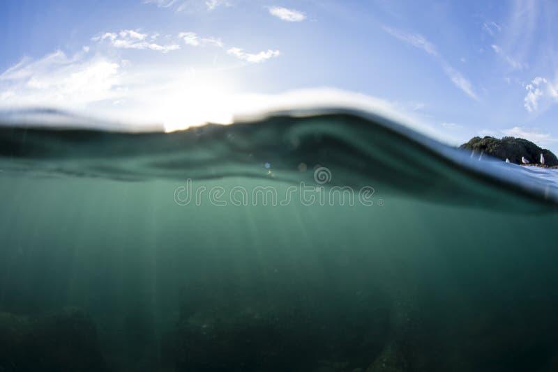 Água rachada da vista imagem de stock