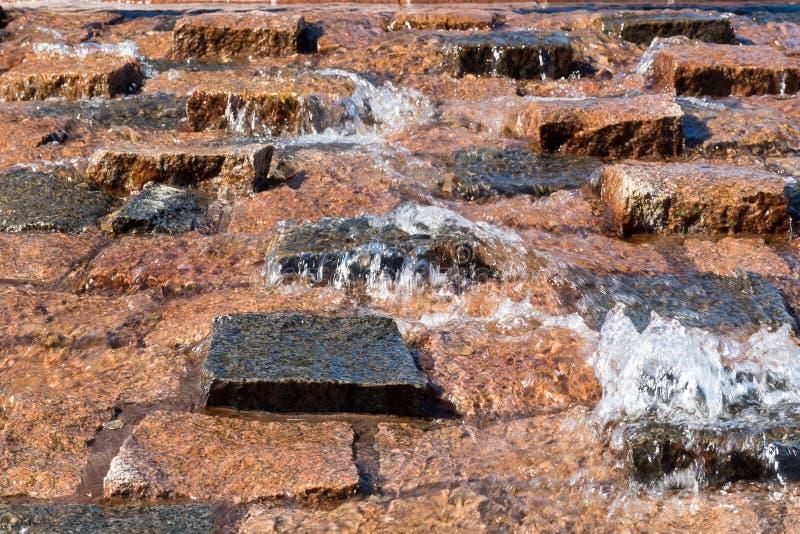 Água sobre pedras fotografia de stock royalty free