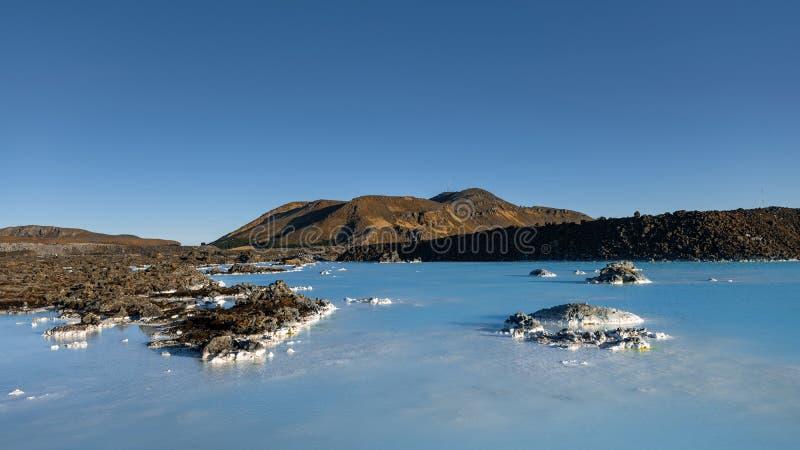 Água térmica em Islândia fotografia de stock