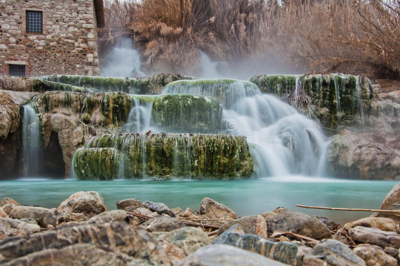Água térmica para banhar-se. fotos de stock royalty free