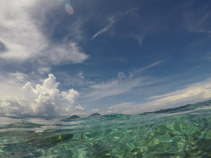 Água tropical imagem de stock
