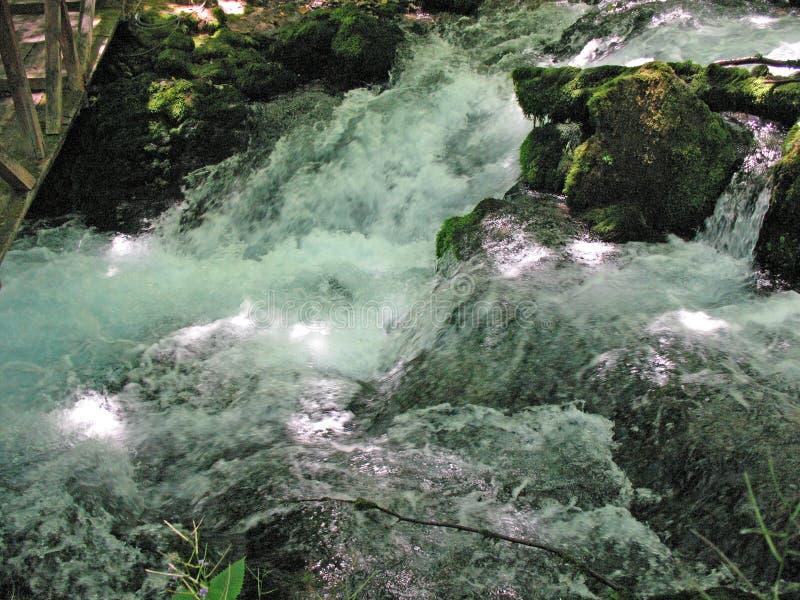 Água turbulenta do rio, rio da montanha imagem de stock royalty free