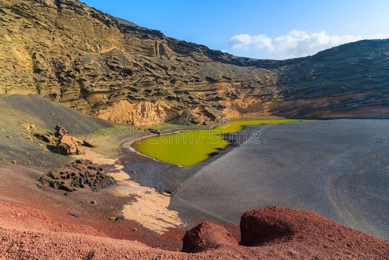 Água verde da lagoa de Lago Verde fotos de stock