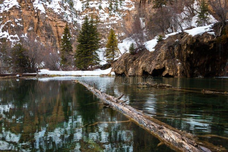 Água verde do lago de suspensão, Colorado, EUA imagem de stock