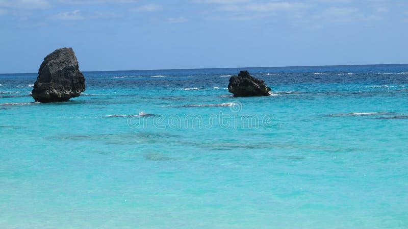 Águas de Bermuda fotografia de stock