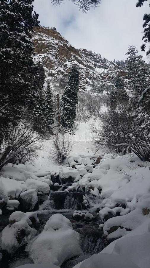 Águas do inverno imagens de stock