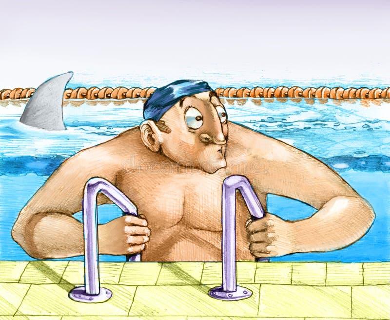 Águas seguras ilustração royalty free