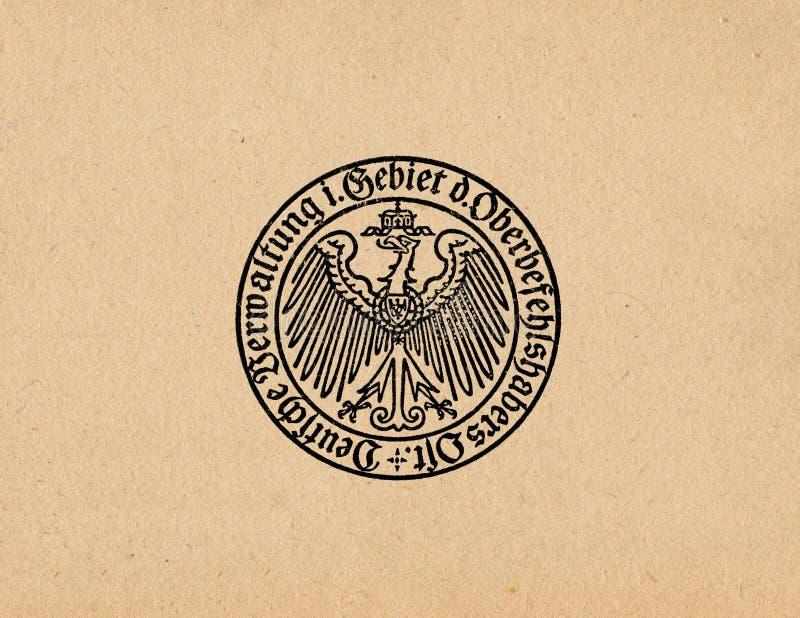 Águia alemão ww2 do Reich de Ober Ost imagem de stock royalty free