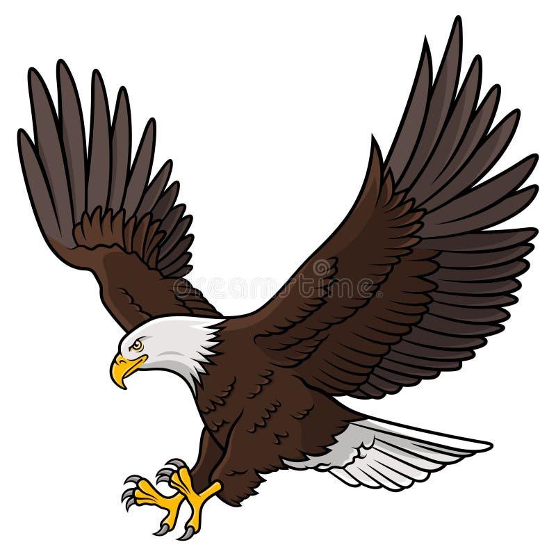 Águia americana 010 ilustração do vetor