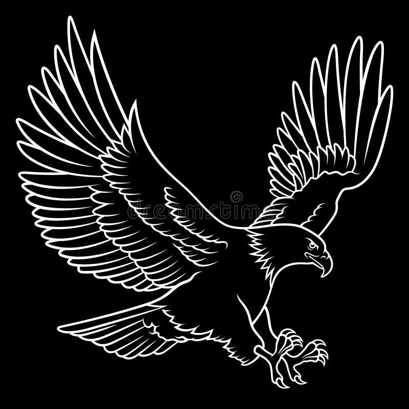 Águia americana 011 ilustração stock