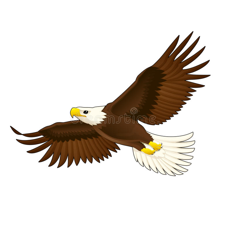 Águia americana. ilustração royalty free