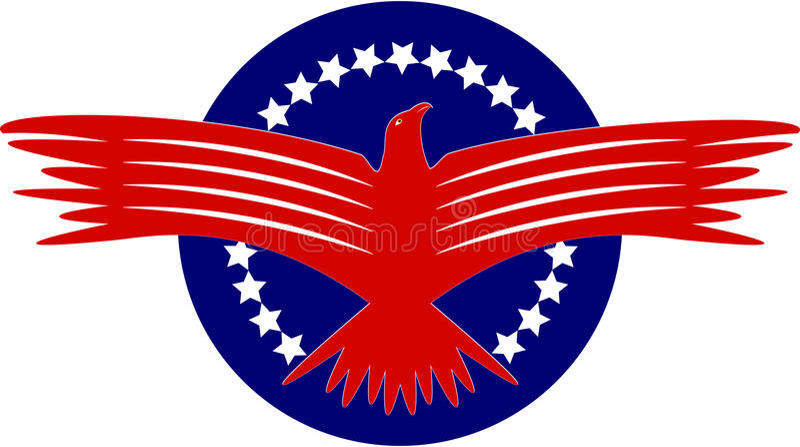 Águia americana ilustração do vetor