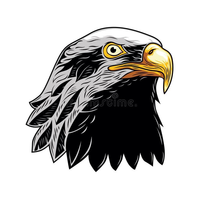 Águia americana, cabeça de Eagle Vetora Illustration, vetor isolado ilustração stock
