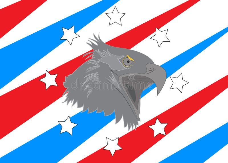 A águia americana da bandeira americana dos EUA stars listras ilustração royalty free