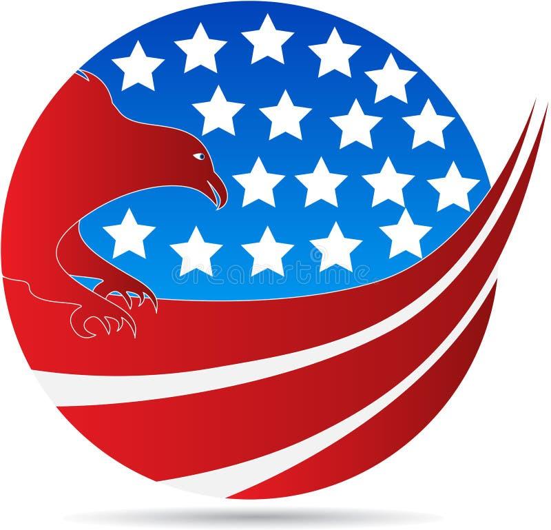 Águia americana do globo ilustração stock