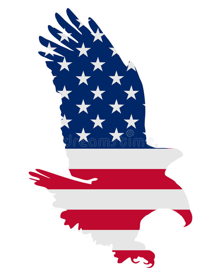 Águia bold(realce) americana ilustração stock