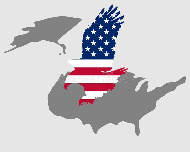 Águia bold(realce) americana ilustração do vetor