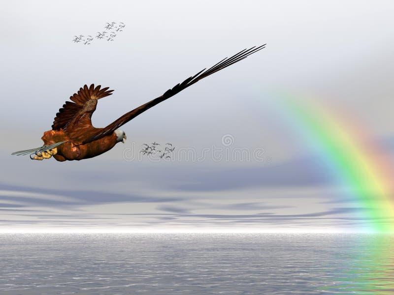Águia calva americana, Accipitridae, ilustração royalty free