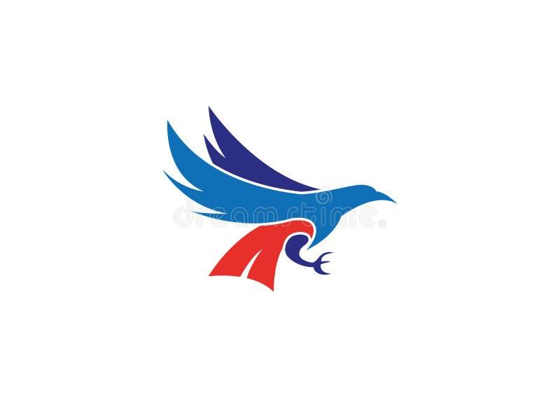 A águia colorida caça e guarda a rapina com suas garras para o logotipo ilustração royalty free