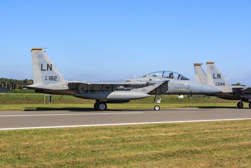 Águia da batida F-15 foto de stock royalty free