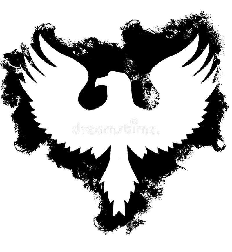 Águia de Grunge ilustração royalty free