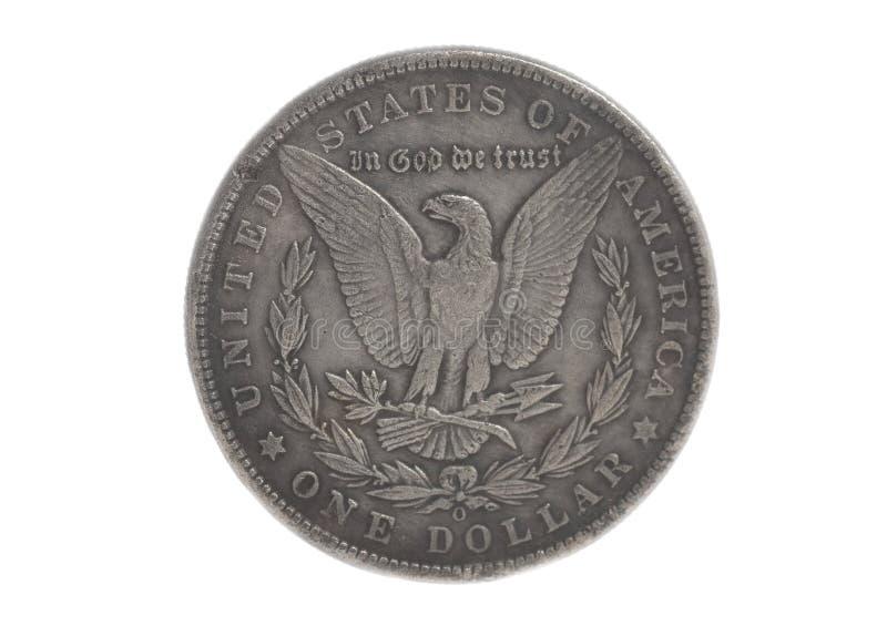 Águia de prata americana uma moeda do dólar fotos de stock royalty free